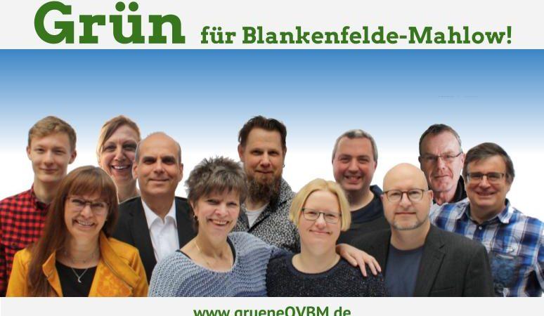 Die Kandidaten von Bündnis 90/Die Grünen Blankenfelde-Mahlow