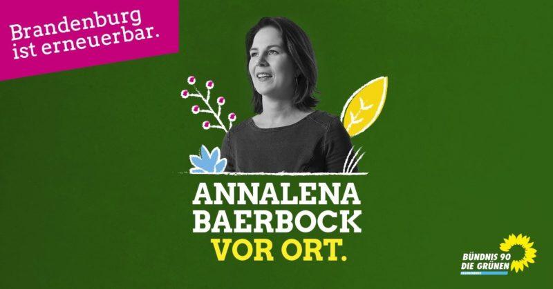 Annalena Baerbock vor Ort